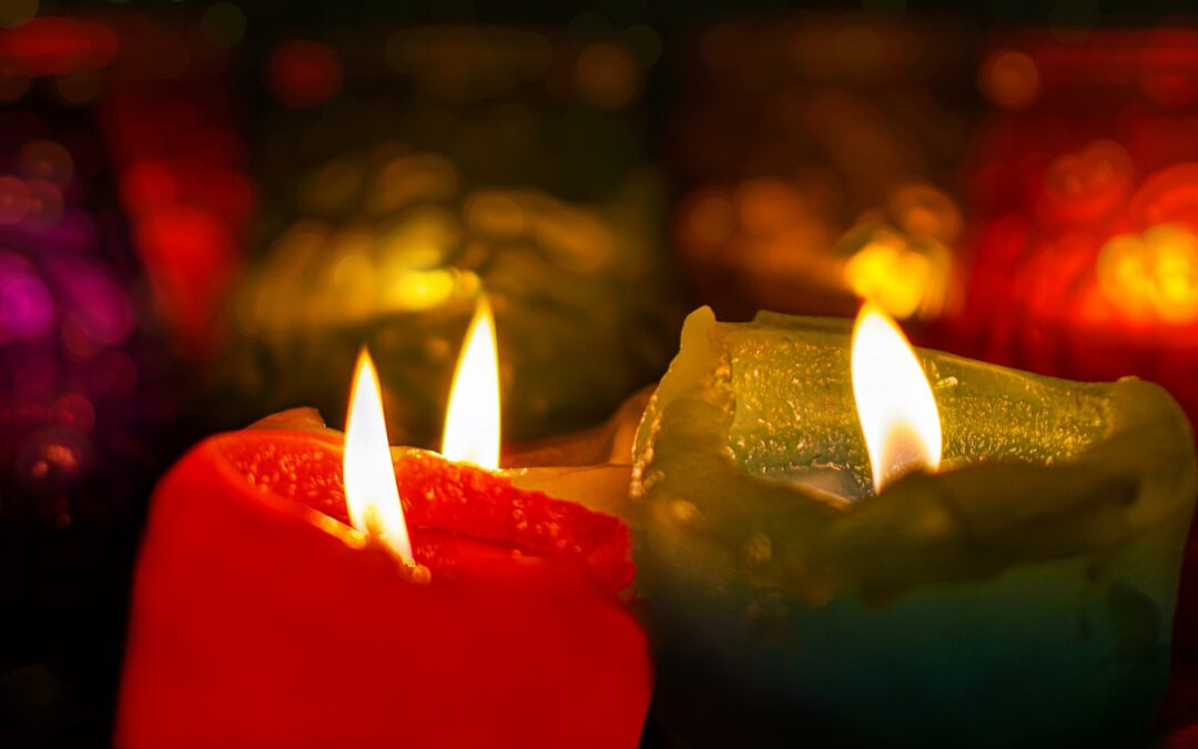 Candele accese a Natale